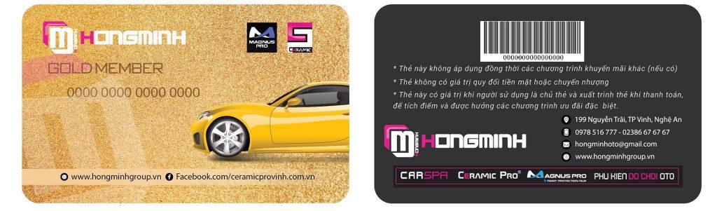 thẻ thành viên tại Hồng Minh Auto