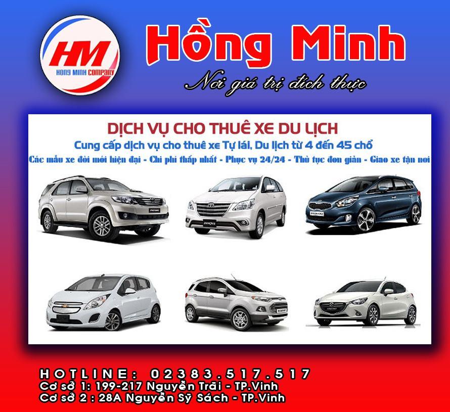 Cho thuê xe tự lái tại Vinh